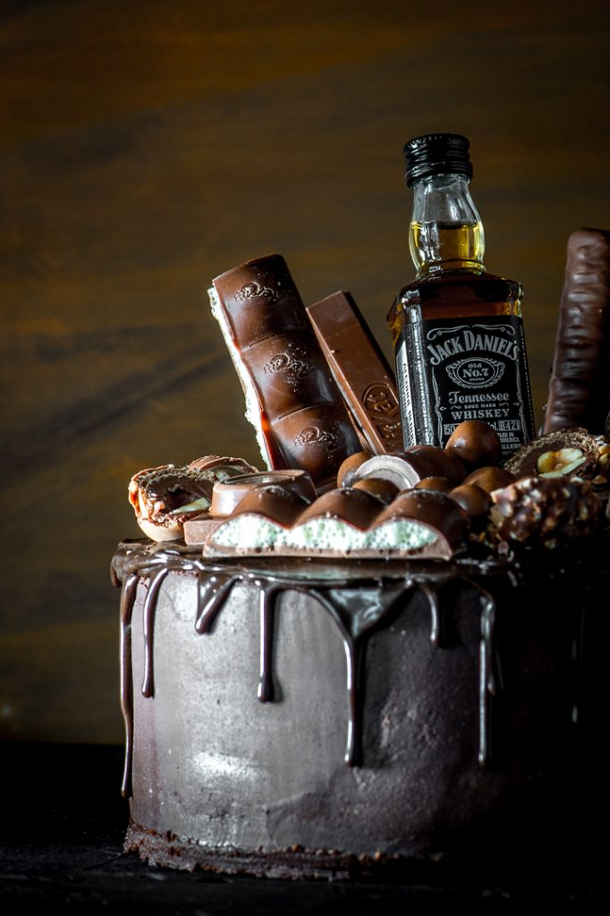 Chocolate Whiskey Cake With Salted Caramel The Sweet